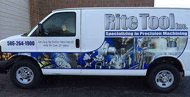 prompt deliveries from Rite Tool Inc